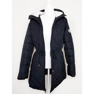 Hollister Quilted Puffer Parka Jacket Large